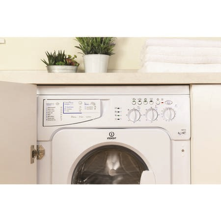 Indesit IWDE126 6kg Wash 5kg Dry 1200rpm Integrated Washer Dryer - White