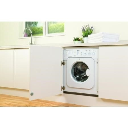 Indesit IWME127 7kg 1200rpm A+ Integrated Washing Machine - White
