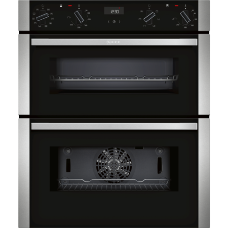 Neff J1ACE4HN0B N50 7 Function Built-under Double Oven With Catalytic Cleaning - Stainless Steel