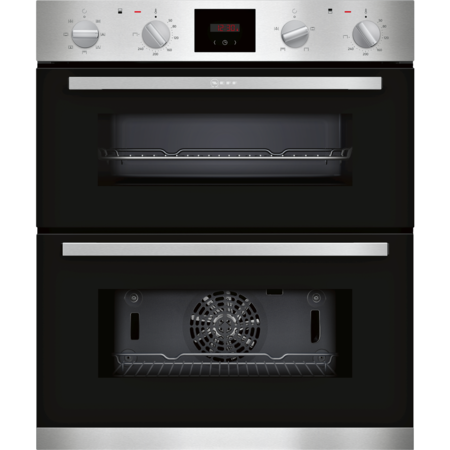 Neff J1HCC0AN0B 5 Function Built-under Double Oven With LCD Display - Stainless Steel