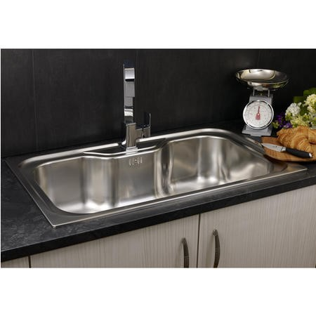 Reginox JUMBO Extra Large 1.0 Bowl Inset Stainless Steel Sink