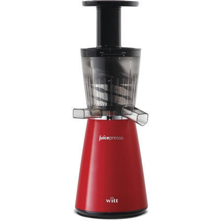 Witt Juicepresso-BR Slow Juicer and 2 x 1.4 L Jugs - Red and Black