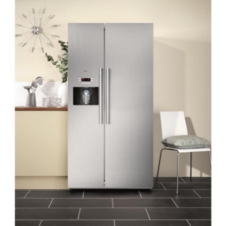 Neff K3990X7GB American Style American Fridge Freezer Fully Clad Stainless Steel with Ice and Water