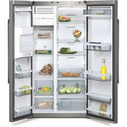 Neff K5920L0GB American Style American Fridge Freezer Fully Clad Stainless Steel A+ Illuminated I
