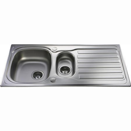 CDA KA22SS 1.5 Bowl Reversible Stainless Steel Sink