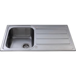 CDA KA50SS Compact 1.0 Bowl Reversible Stainless Steel Sink