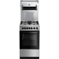 Beko KA52NES 50cm Gas Cooker With Eye Level Grill - Silver Best Price, Cheapest Prices