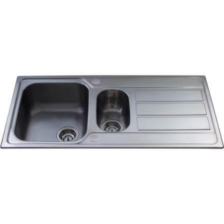 CDA KA52SS 1.5 Bowl Reversible Stainless Steel Sink