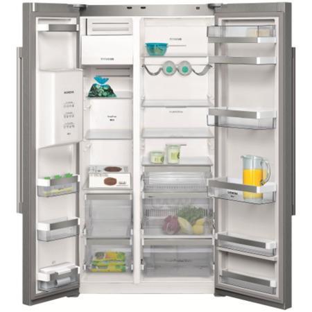 Siemens KA62DA71GB iQ500 Frost Free American Fridge Freezer with Ice And  Water Dispenser Stainless