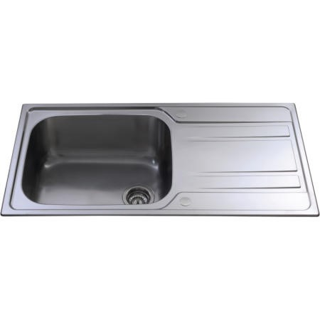 CDA KA71SS Large 1.0 Bowl Reversible Stainless Steel Sink