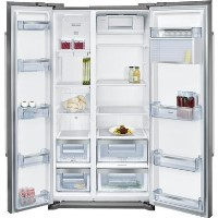 Neff KA7902I20G Side-by-side American Fridge Freezer Fingerprint Free Stainless Steel Doors Best Price, Cheapest Prices
