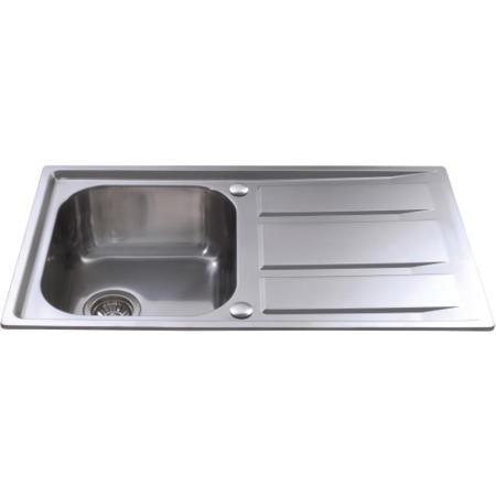 GRADE A1 - CDA KA80SS 1.0 Bowl Reversible Stainless Steel Sink With Deep Drainer
