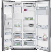 Siemens KA90DVI20G iQ500 Side-by-Side American Fridge Freezer - Stainless Steel Best Price, Cheapest Prices