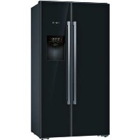 Bosch KAD92HBFP Serie 8 Side-by-side American Fridge Freezer With ice & Water Dispenser - Black Best Price, Cheapest Prices