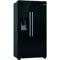 Bosch KAD93VBFPG Serie 6 American Side-by-side Fridge Freezer With Ice & Water Dispenser - Black Best Price, Cheapest Prices