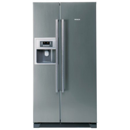 bosch kan58a45g side by side american fridge freezer with ice and water dispenser inox look