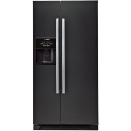 Bosch KAN58A55GB Black Edition Frost Free Ice and Water American Fridge Freezer