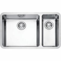 Franke KBX 160 45-20 Kubus 1.5 Bowl Undermount Stainless Steel Sink With Right Hand Small Bowl