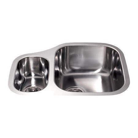 CDA KCC27SS Undermount Sink One And Left Hand Half Bowl