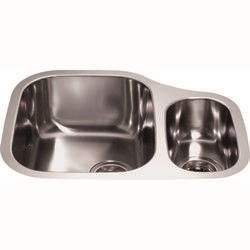 CDA KCC28SS Undermount Sink One And Right Hand Half Bowl