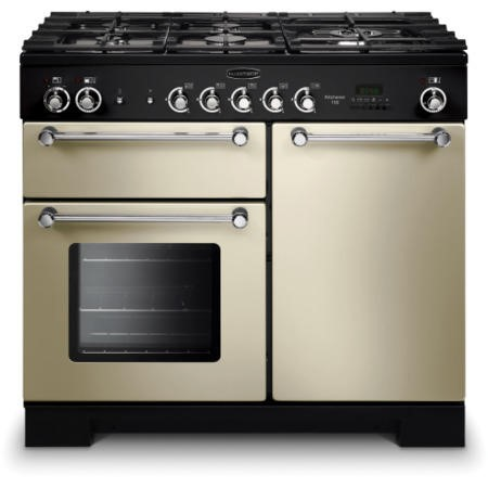 Rangemaster KCH100NGFCRC 111960 Kitchener 100cm Natural Gas Range Cooker Cream