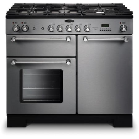 Rangemaster KCH100NGFSSC 111930 Kitchener 100cm Natural Gas Range Cooker Stainless Steel