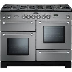 Rangemaster 98830 Kitchener 110cm Dual Fuel Range Cooker - Stainless Steel and Chrome
