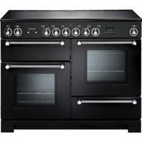 Rangemaster 78860 Kitchener 110cm Electric Range Cooker With Ceramic Hob - Black And Chrome