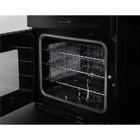 Rangemaster 10726 Kitchener 60cm Electric Cooker With Ceramic Hob Black And Chrome