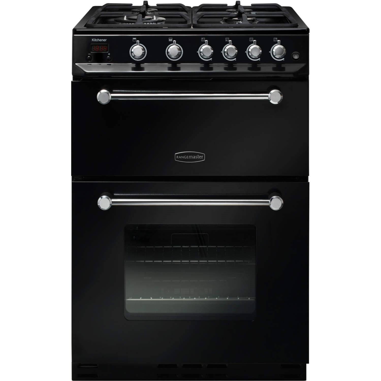 rangemaster 10725 kitchener 60cm gas cooker black and chrome rangemaster 10725 kitchener 60cm gas cooker black and chrome      rh   appliancesdirect co uk