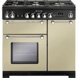 Rangemaster 81440 Kitchener 90cm Dual Fuel Range Cooker In Cream