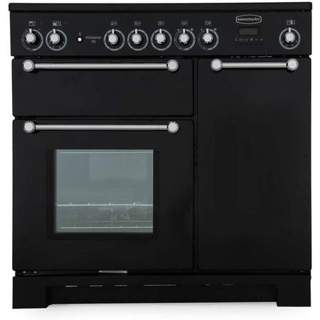 Rangemaster KCH90ECBLC Kitchener 90cm Electric Range Cooker - Black And Chrome