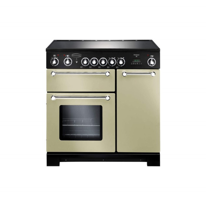 rangemaster 79280 kitchener 90cm electric range cooker cream and chrome kch90eccrc. Black Bedroom Furniture Sets. Home Design Ideas