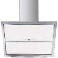 Smeg KCV9BE 90cm Angled Cooker Hood Stainless Steel And White Glass