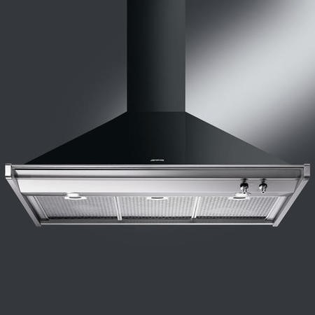 Smeg KD100NE Opera 100cm Gloss Black Chimney Cooker Hood