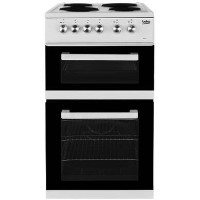 Beko KD531AW 50 cm Twin Cavity Electric Cooker With Sealed Plate Hob - White Best Price, Cheapest Prices