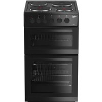 Beko KD533AK 50 cm Twin Cavity Electric Cooker - Black Best Price, Cheapest Prices