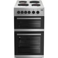 Beko KD533AS 50 cm Twin Cavity Electric Cooker - Silver
