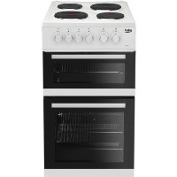Beko KD533AW 50 cm Twin Cavity Electric Cooker - White Best Price, Cheapest Prices