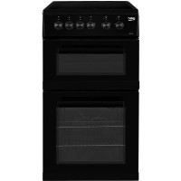 Beko KDC5422AK 50 cm Twin Cavity Electric Cooker with Ceramic Hob - Black Best Price, Cheapest Prices