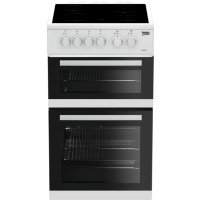 Beko KDC5422AW 50 cm Twin Cavity Electric Cooker with Ceramic Hob - White Best Price, Cheapest Prices