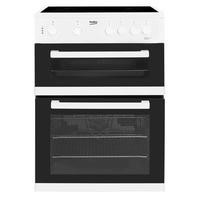 Beko KDC611W 60cm Double Oven Electric Cooker With Ceramic Hob White Best Price, Cheapest Prices