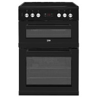 Beko KDC653K 60cm Double Oven Electric Cooker With Ceramic Hob - Black Best Price, Cheapest Prices