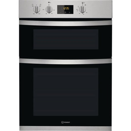 Indesit KDD3340IX Electric Fan Double Built-in Oven - Stainless Steel