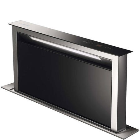 GRADE A1 - Smeg KDD90VXE-2 90cm Downdraft Extractor Black Glass And Stainless Steel