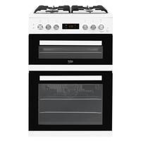 Beko KDDF653W 60cm Double Oven Dual Fuel Cooker White