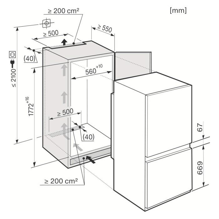 miele kdn37132id 54cm wide frost free 70 30 integrated upright fridge freezer white. Black Bedroom Furniture Sets. Home Design Ideas