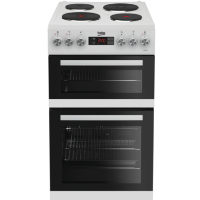 Beko KDV555AW 50 cm Double Oven Electric Cooker - White Best Price, Cheapest Prices
