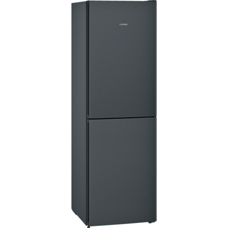 Siemens KG34NVX3AG iQ300 Frost Free Freestanding Fridge Freezer - Black Steel