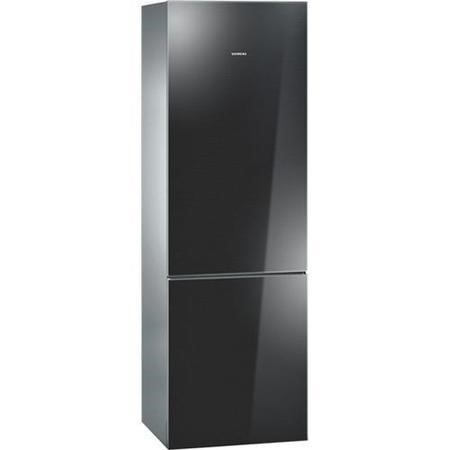 Siemens KG36NSB40 Frost Free Freestanding Fridge Freezer With Black Glass Doors